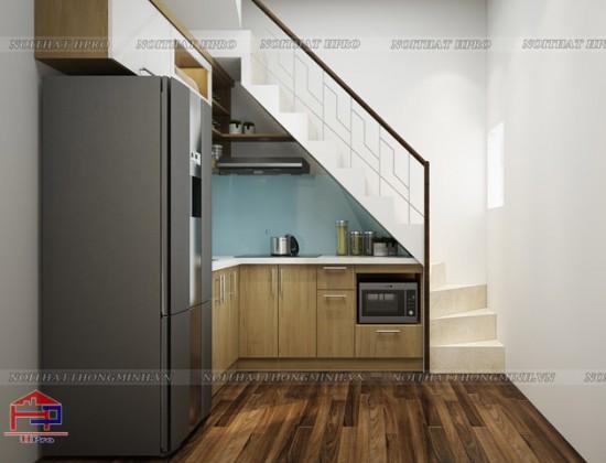 Tủ bếp gỗ Veneer TBVN81 chất lượng cao