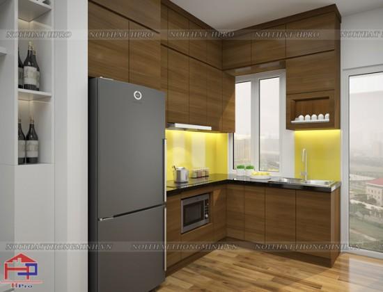 Tủ bếp gỗ Veneer TBVN82